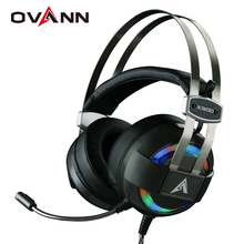 Ovann X300 Computer Gaming Headphones Over Ear Game Headset shock deep bass with Mic Breathing LED Lights Especially for Gamer(China)
