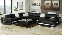 Sectional furniture couch genuine leather sofa set(China)