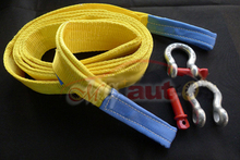 Car trailer rope 10 meters 15 Tons Tow Cable Tow Strap Towing Rope with Hooks for Heavy Duty Car Emergency