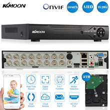 KKmoon 16CH Full 1080N/720P AHD DVR HVR NVR HDMI P2P Cloud Network Onvif PnP Digital Video Recorder + 2TB Seagate Hard Disk(China)