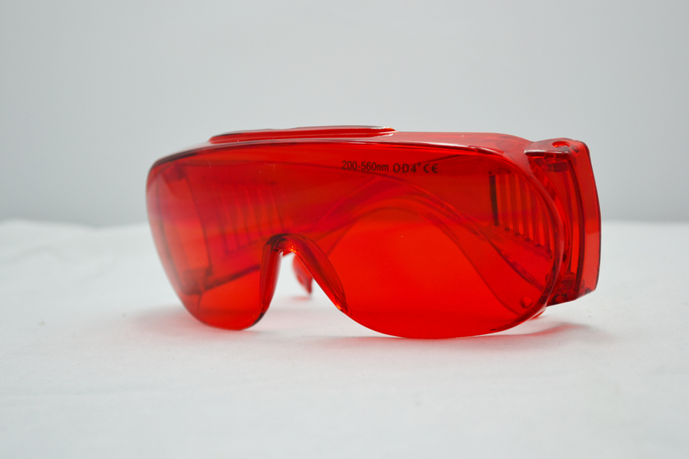 laser safety glasses 200-540nm O.D 4+ CE certified for 266nm, 445nm, 457nm, 473nm, 532nm and 556nm  high power laser<br>