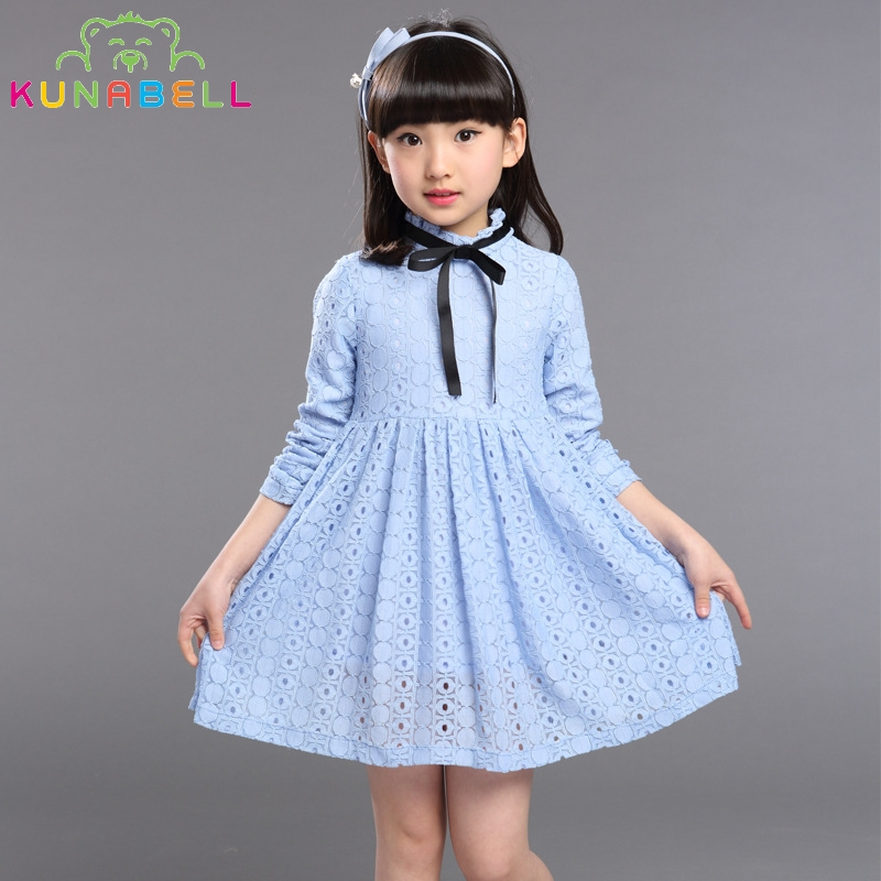 Girls Lace Dress 2017 New Spring Children Fashion Brand Clothes Cotton Hollow out Elegant Princess Dresses For Kids Girl L197<br><br>Aliexpress