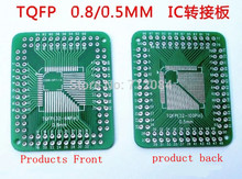 QFP FQFP TQFP 32 44 64 80 100 LQFP turn DIP 0.5/0.8mm IC adapter Socket / Adapter plate PCB