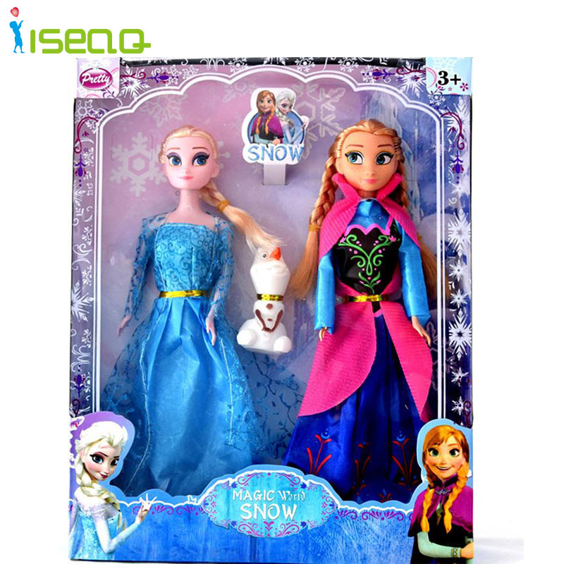 2pcs/set Fashion Princess Elsa Anna Doll Baby Juguetes Snow Queen Children Kids Toys Christmas Gifts For Kids Sharon Dolls DS005<br><br>Aliexpress