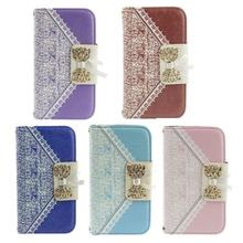 New 2015 Fashion Cute Flip Wallet Leather Case Cover for iPhone 4G 4S 5G 5S Gift Nice for you Wholesale Price(China)