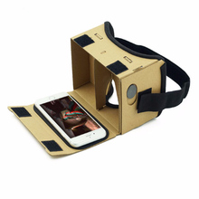 Hot ! Virtual Reality Glasses Google Cardboard Glasses 3D Glasses VR Box Movies for iPhone 5 6 7 SmartPhones VR Headset