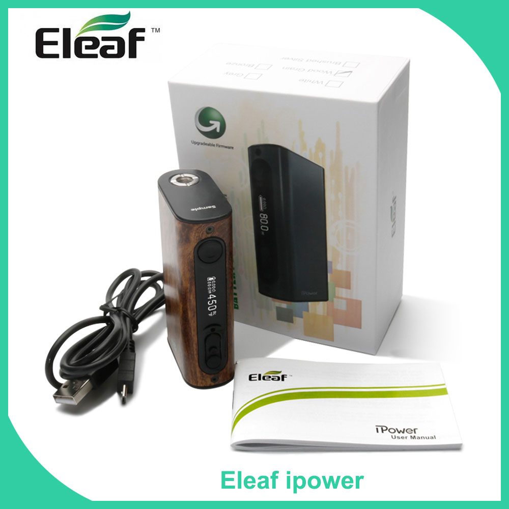 Original iSmoka Eleaf iStick Power/ipower 80W Electronic Cigarette eleaf ipower TC 80W Box Mod 5000mah Battery Vape kit