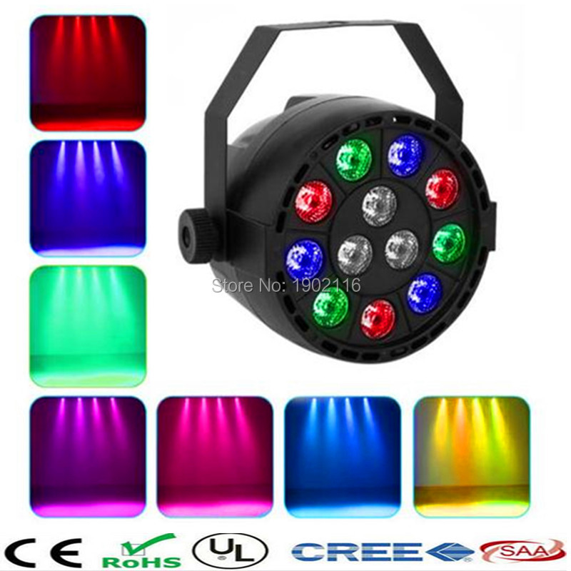 LED flat par/12X3W LED RGBW Projector/Party Club DJ Stage Light/ LED Par DMX-512 Lighting/ Xmas lights /beam lamp <br><br>Aliexpress