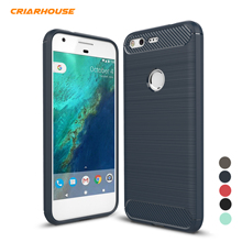 New Candy Color Rugged Armor Carbon Fiber TPU Soft Matte Silicone Phone Case Cover For Google HTC Pixel XL Funda Capa Cases
