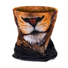 Fashion lion/ pug dog/ tiger face Pattern 3D Print Headwear Bandana Multi Scarf Unisex Quality Polyester Soft Seamless Scarves