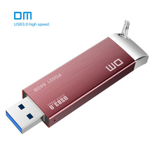 Free shipping DM PD021 16GB 32GB 64GB 128GB 256GB USB Flash Drives Metal USB 3.0 High-speed write from 10mb/s-60mb/s(China)