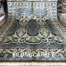 Yilong 10'x14' Turkish Silk Rugs Classic Traditional Mighty Symbol Paradise Oriental Turkish Silk Carpet (Z2011-10x14)(China)