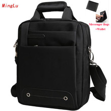 Minglu 2017 New Business Men's Single Messenger Bags Brand A4 File Men Briefcase High Quality Casual Travel Handbag X828(China)