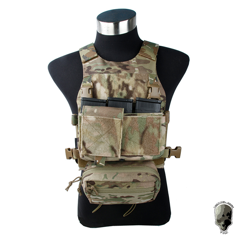 TMC FSK Plate Carrier SS Front Set Tactical Vest Modular Loop Protect Full Set