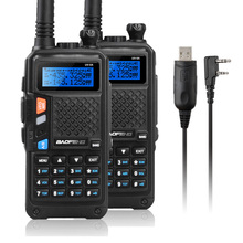 2x BAOFENG UV-5X UHF+VHF Dual Band/Dual Watch Two-Way Radio FM Walkie Talkie+Tokmate Program Cable Compatible with WIN 10 MAC