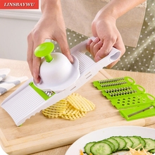 Creative Shredders & Sliicers 5 in 1 Adjustable Mandoline Vegetable Fruit Slicer Dicer Chopper Nicer Grater Tools For Kitchen(China)