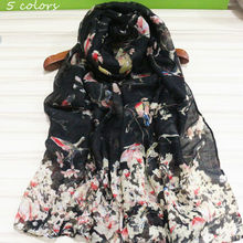 2017 sweet flower scarf with butterfly women fashon print shawl cosy viscose scarves floral muslim hijabs islamic scarfs