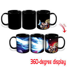 Dragon Ball Z Goku Heat Reactive Mug Coffee Cup Kamehameha Super Saiyan Color Changing Heat Change Ceramic Caneca Novelty Gift(China)