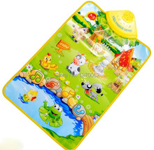 Musical Farm  Russian carpet  tapete infantil baby toy ECC Animal play mat 60*40cm