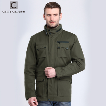 CITY CLASS 2017 Mens Vestes et Manteaux Quatre Grand Paquets Militaire Caché Hat Printemps Casual Coupe-Vent Imperméable Costume 3794