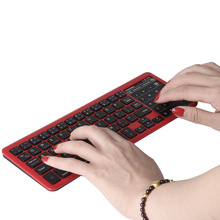 Universal Portable Rechargeable 7 Color LED Backlit Wireless Bluetooth Touchpad Keyboard With Stand For Windows Android Tablet