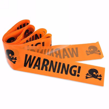 1PC Hot High Quanlity Halloween Decoration Window Prop Decoration Warning Tape Signs Plastic Skull Head