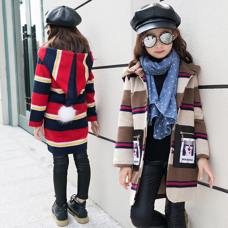 Hooded Girls Coat Autumn Winter Warm Kids Jacket Outerwear Childrens Clothing Baby Girl Tops Coats Designer Windbreaker GH217<br>
