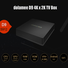 Dolamee D9 4K x 2K TV Box DLNA Miracast 1.5G RAM 8G ROM Amlogic S912 Octa-core CPU Android 6.0 2.4GHz WiFi HDMI Media Player