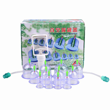 12 pcs/ Set Chinese Health Care Medical Acupunture Vacuum Cupping Set Portable Massage Therapy Kit body Relaxation Healthy Set