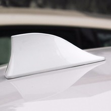 2 colors Universal Car Roof Style Shark Fin Antenna Radio Signal Aerials AM/FM Car Styling Auto Accessories(China)