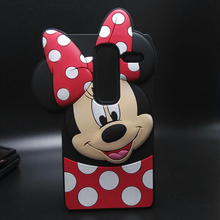 3D Cartoon Silicone Case Cute Smiling faces Minnie Cover Casing Phone case For LG Zero Class H740 F620 H650