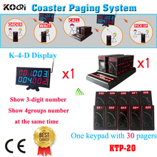 Guest Paging System Chinese Manufacturer Promotion Restaurant Table Call Buzzer Pager Equipment(1 display+1 keypad+30pcs pages)