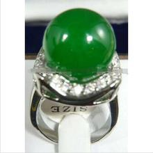 Wholesale price 16new ^^^^Green Chrysoprase Ring Size:7:8:9 AAA(China)