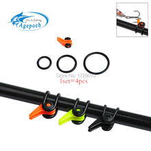 Agepoch 1pcs Fishing Rod Pole Keeper Lure Spoon Bait Treble Holder Hang Hooks Rod Shackle Rock Rafting Tackle Accessories
