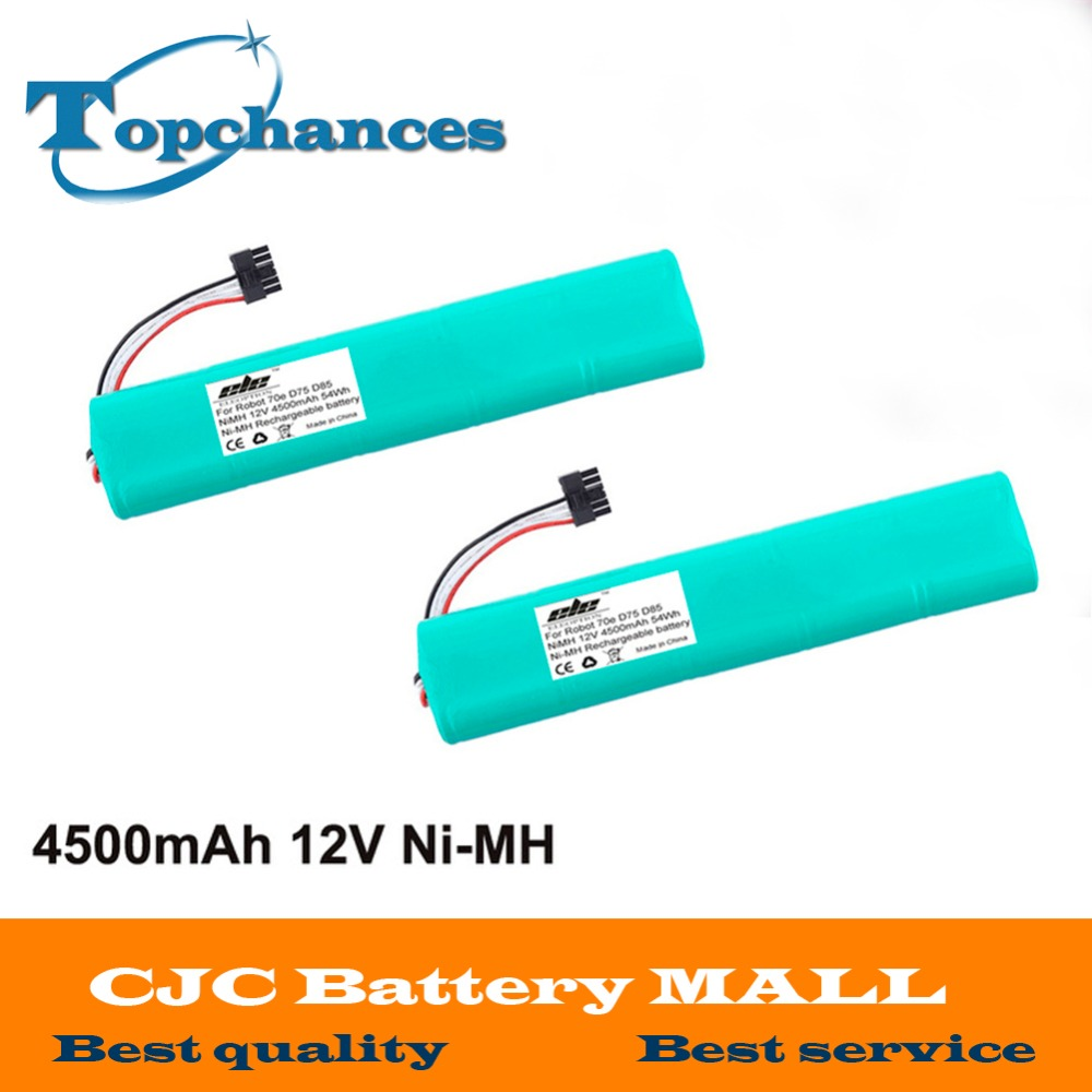 2x High quality NI-MH 12V 4500mAh Replacement battery for Neato Botvac 70e 75 80 85 D75 D8 D85 Vacuum Cleaner battery(China (Mainland))