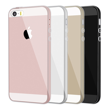 Case For Iphone 5 S 5S Clear Brand Silicone Cover Dustproof TPU Soft Phone Bag Case Transparent Coque For Iphone 5S 6 6S 7 Plus(China)