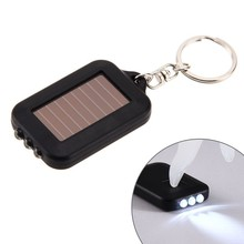 Multifunctional Solar Energy 3 Light LED Electric Torch Key Chain Camping Mini Torch Key Chain fluorescent lamp Mini Flashlight