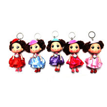 Soft Interactive Baby Dolls Toy With Key Chain Hole Mini Doll For girls and boys Kids Toys mobile phone pendant