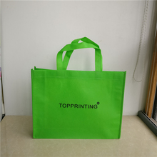 Wholesale 1000pcs/lot 30x40x10cm reusable eco fabric non woven shopping bags custom print logo foldable grocery tote bags as ads(China)