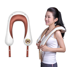 Electric Back Neck Shoulder Body Massager Electrical Stimulator Muscle Acupuncture Machine Tens Fatigue Relief U Shape C757