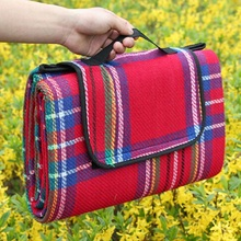 150x200cm Waterproof Foldable Outdoor Camping Mat Picnic Mat Plaid Beach Blanket Baby Climb Blanket Multiplayer Tourist Mat(China)
