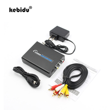 kebidu HDMI to Composite 3RCA AV S-Video R/L Audio video Converter Adapter For Upscaler Support 720P/1080P & RCA/S-video Cable(China)
