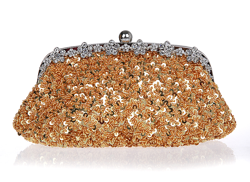 Exquisite hand-beaded evening bag retro  bride package sequined cheongsam hand bag  package<br>