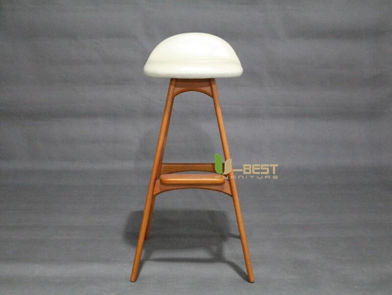 erik buch bar chair counter chair white PU cushion shining u-best furniture (1)