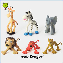 Mr.Froger Wild Animals Toy animals set Zoo modeling plastic Solid Chibi Cute 6 piece figurine collection Wonderful Natural World