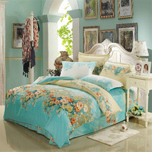 FADFAY 100% Cotton Duvet Cover Sets Vintage Floral Pattern Bedding Sets Design Pillowcase Quilt Cover Sets Bedding Set For Home(China)