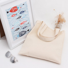 YILE Cotton Canvas Shoulder Bag ECO Shopping Tote Blank Champagne DIY Painting L022