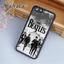 MaiYaCa The Beatles Rock Band Classic Soft Rubber cell phone Case Cover For iPhone 6 Plus and 6S Plus phone cover shell(China)