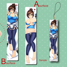 Hot Game Dr. Mei Ling Zhou Cool Anime Mini Dakimakura Keychain Badge Pillow Hanging Ornament Phone Strap Gift