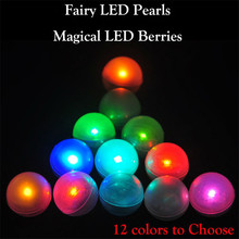 3/4inch Diameter Fairy Pearls, Magical LED Berries Floating LED Ball Light for Wedding Centerpiece Party Decoration